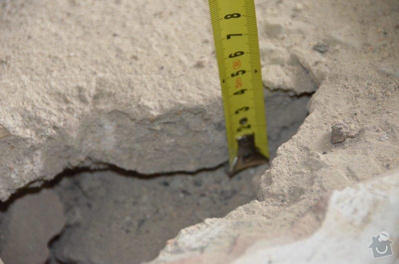 Vybourání betonové podlahové desky 4cm na zásypu : DSC_0616