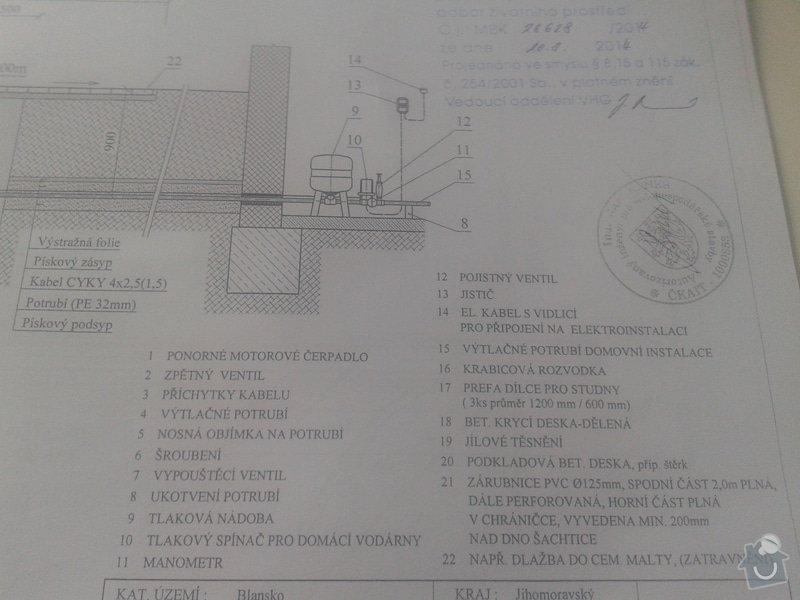 Instalatérské práce, zhotovení hlubiného čerpadla : studna_20141109_135236