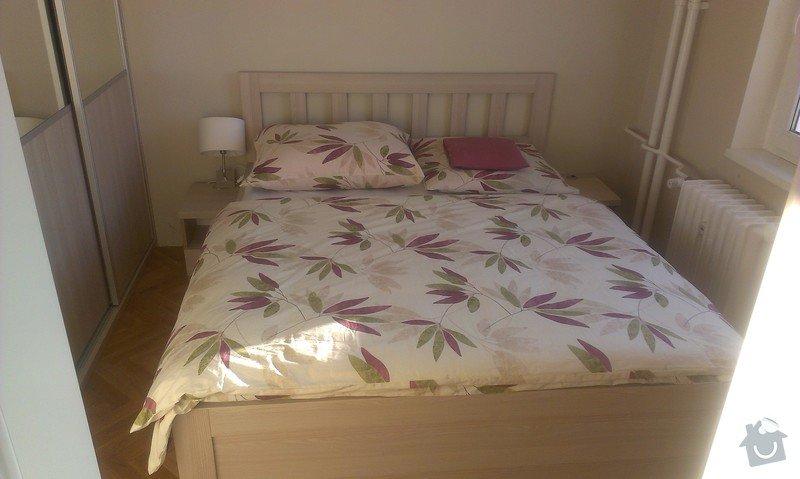 Vestavna skříň, postel a noční stolky, botníková skříň v chodbě: IMAG0173