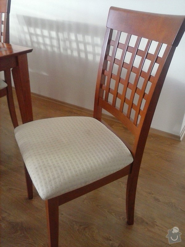 Přečalounění 6 ks jídel.židlí: CAM00198
