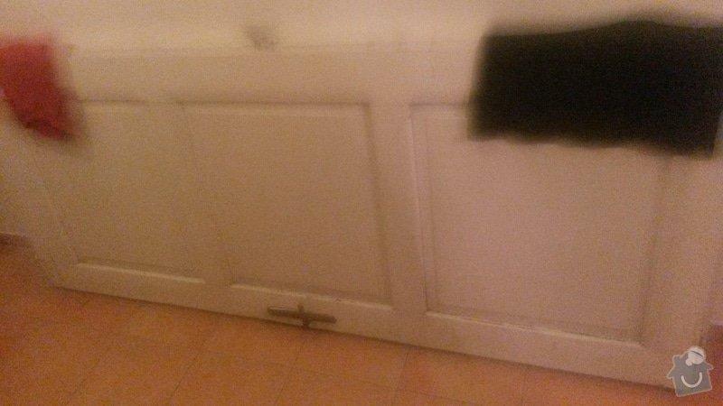 Výroba zárubně + renovace dveří: 1