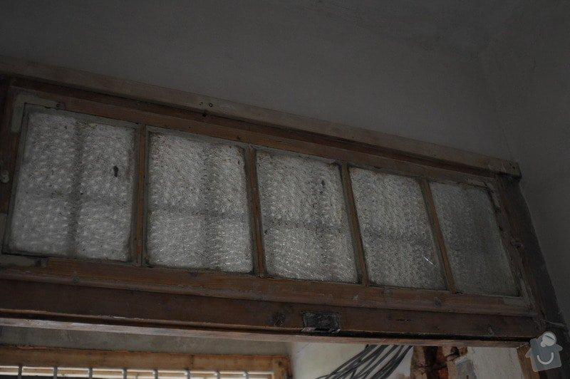 Renovace špaletových oken, vložení izolačních skel: 05