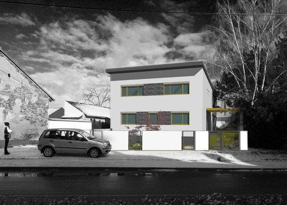 Architektonický návrh úprav rozestavěné stavby rodinného domu