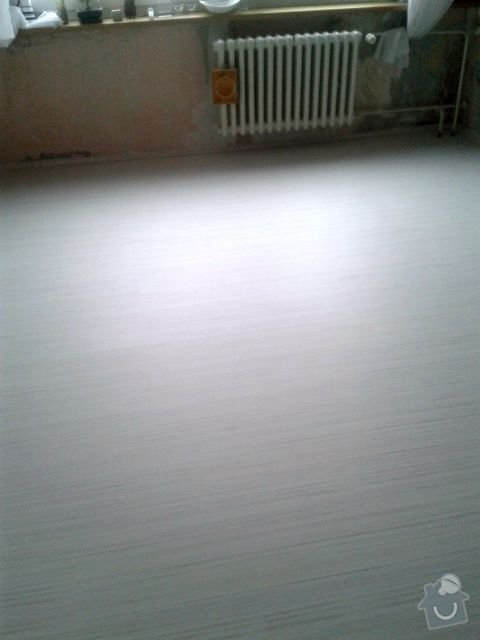 Pokladku plovouci podlahy v celem byte: 20141113_142501