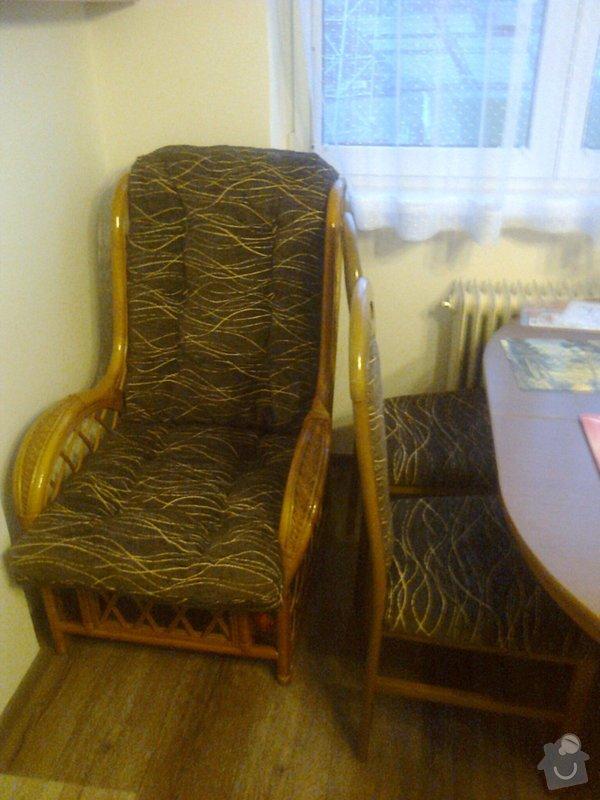 Čalounické práce - 4 židle + 2 křesla: Fotografie0660