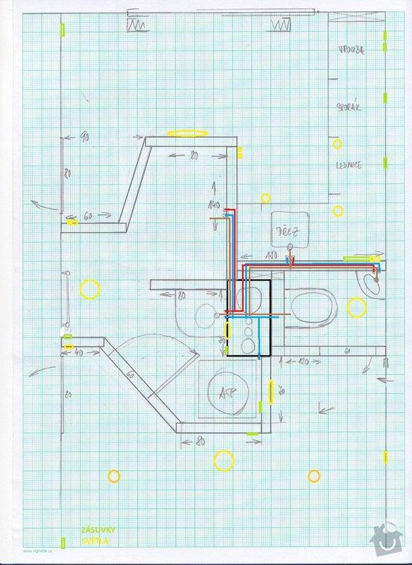 Pokládka obkladů a dlažby - bytové jádro: finalni_jadro_-_voda_odpad_elektrika