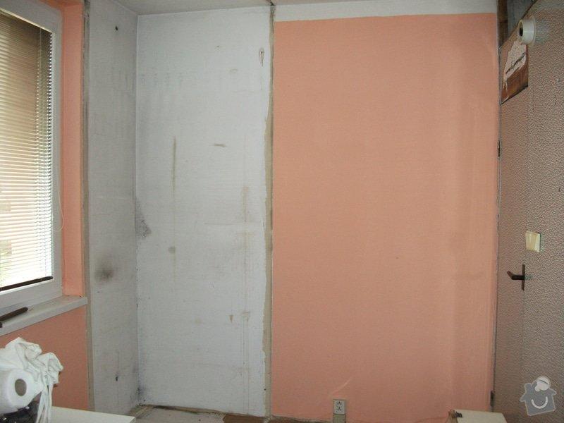 Celková rekonstrukce bytového jádra, obkladačské práce, sádrokartonářské práce, instalatérské práce: DSCF3678