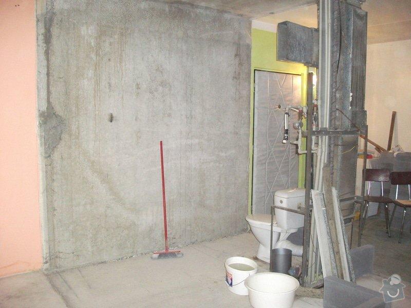 Celková rekonstrukce bytového jádra, obkladačské práce, sádrokartonářské práce, instalatérské práce: DSCF3682