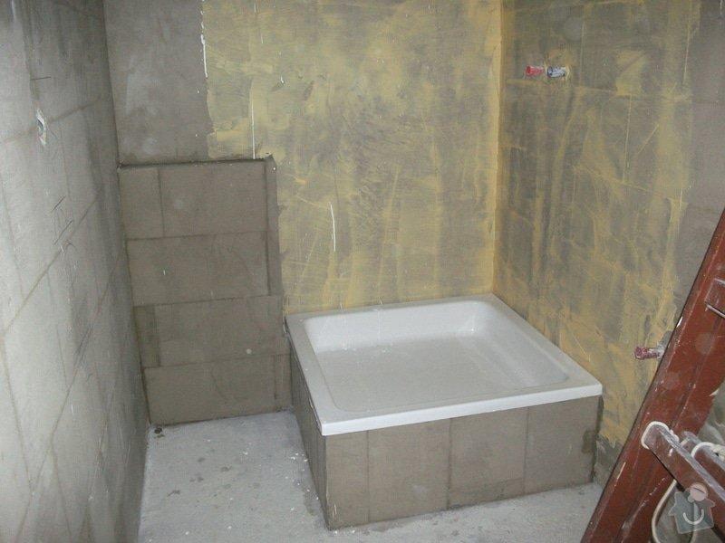 Celková rekonstrukce bytového jádra, obkladačské práce, sádrokartonářské práce, instalatérské práce: DSCF3689