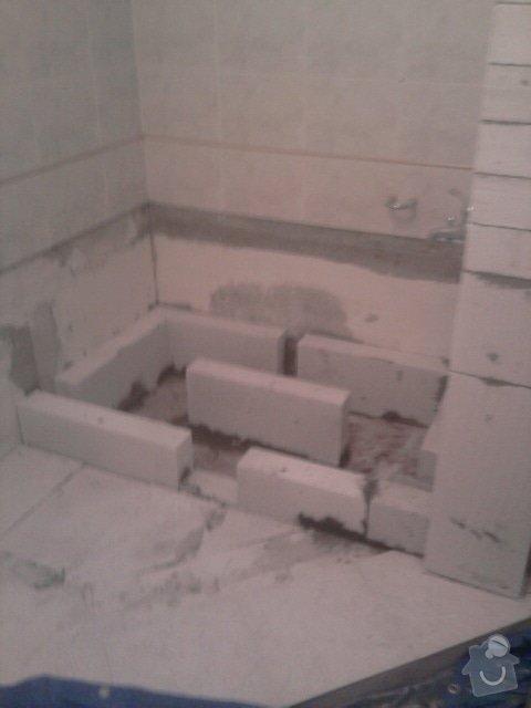 Výměna vany za sprchový kout: Fotografie1169