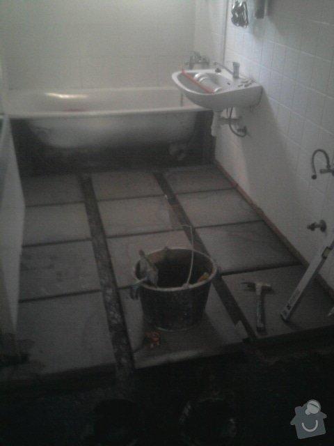 Rekonstrukce dlažby v koupelně: Fotografie1173