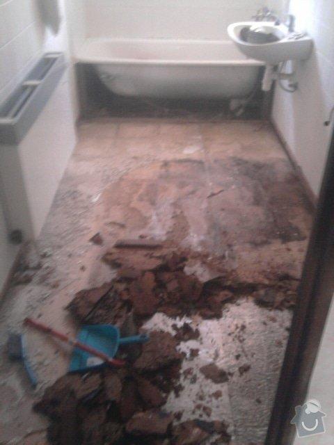 Rekonstrukce dlažby v koupelně: Fotografie1172