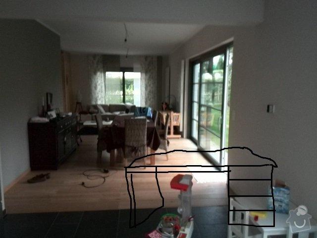Dřevěné posuvné dverě 2X. Dřevěný bar z  dubového masivu: bar_160delka_sirka_90cm_vyska_100cm