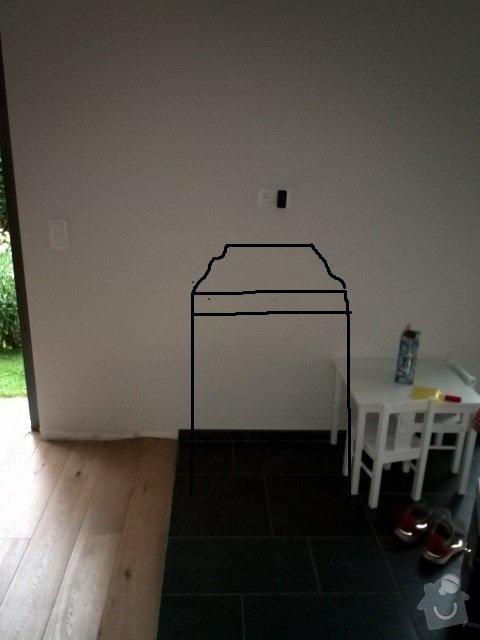 Dřevěné posuvné dverě 2X. Dřevěný bar z  dubového masivu: bar_ze_predu