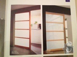 Dřevěné posuvné dverě 2X. Dřevěný bar z  dubového masivu: dvere_patro