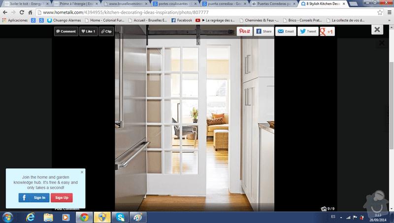 Dřevěné posuvné dverě 2X. Dřevěný bar z  dubového masivu: dvere_prizemi