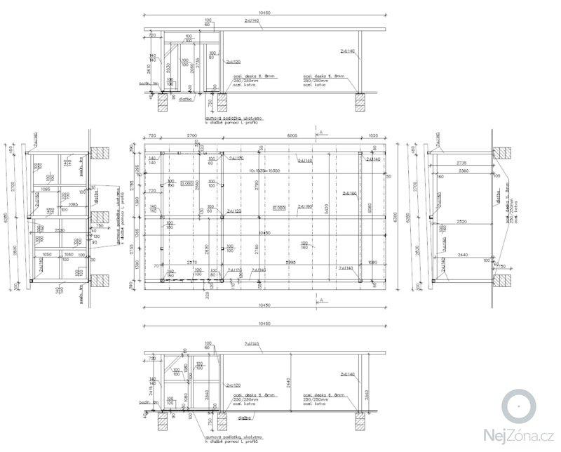 Zamecnicke prace - stavba pristresku na auta s kolnou: Konstrukce_krov