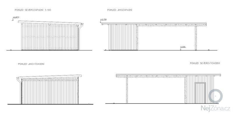 Zamecnicke prace - stavba pristresku na auta s kolnou: pohledy_1