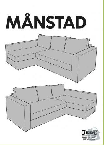 Převoz sedacky IKEA Manstad : manastad