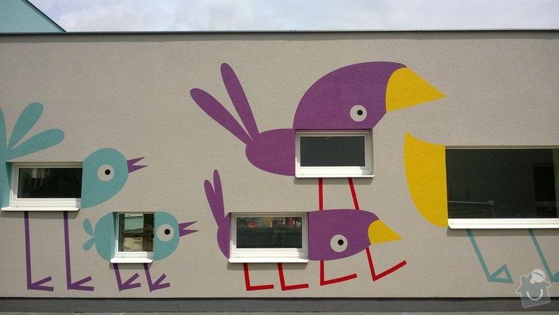 Dekorativní malby na fasádu školky v Dobrušce: Dekorativni_malba_na_fasadu