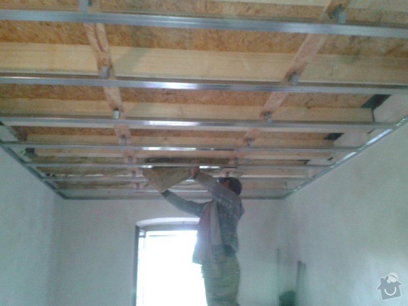 Zhotovení stropu+plovoucí podlahy+sádrokarton: 20141022_101532