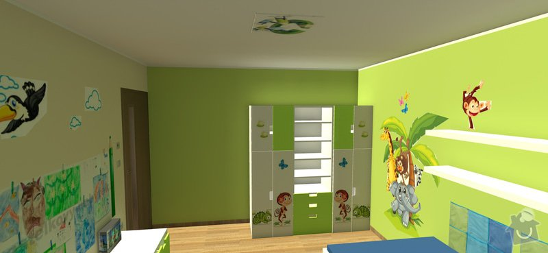 Návrh interiéru dětského pokoje: 1aa