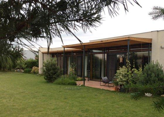 Návrh pergoly k terase rodinného domu