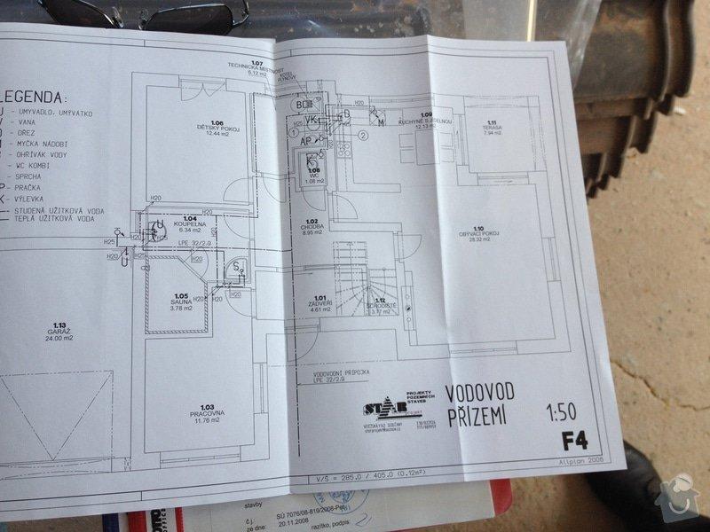 Podlahové topení RD: prizemi