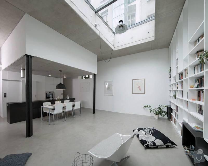 Betonová podlaha s podlahovým topením: 1