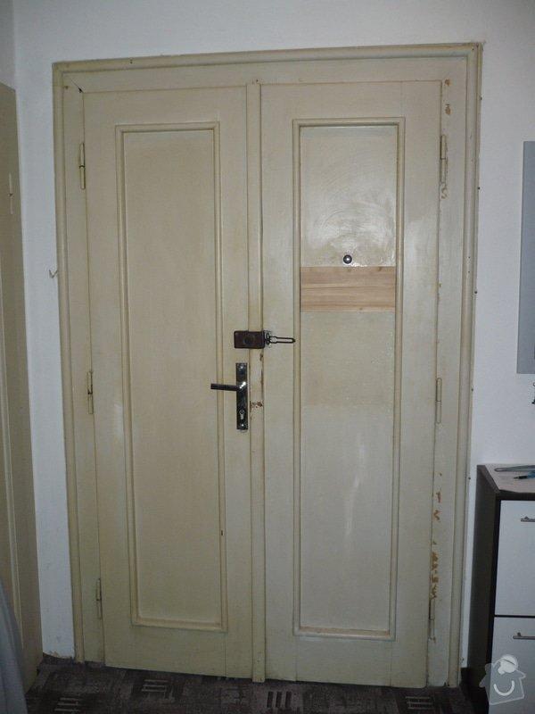 Renovace vchodových dveří do bytu.: P1060584