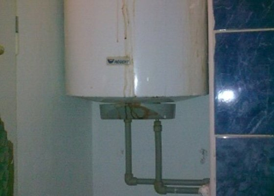 Instalatérské práce-výměna starého bojleru za nový+rozvody vody+drobné elektro