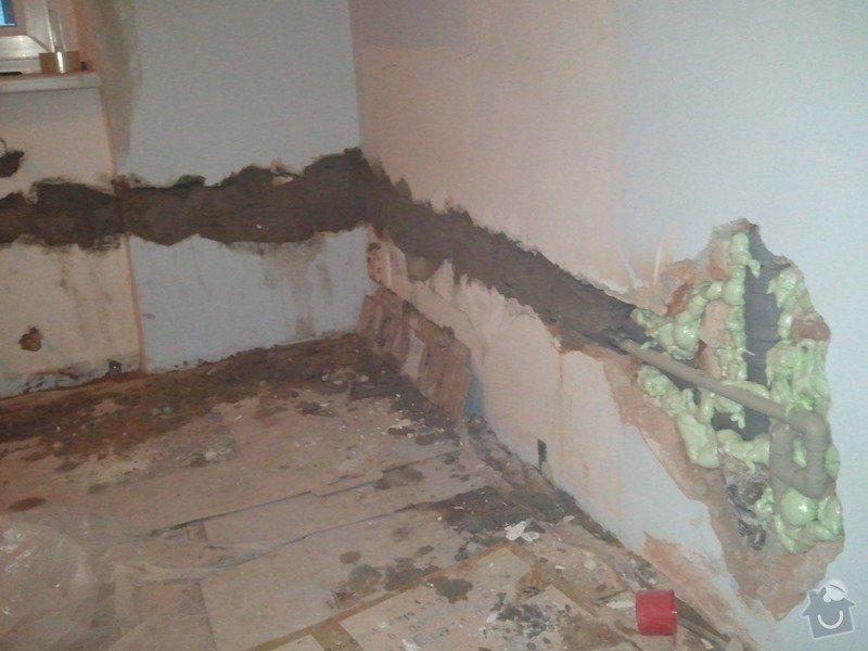 Zednické práce - zapravení drážky ve zdi: WP_000968