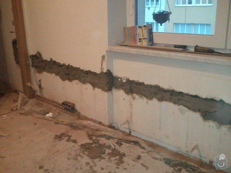 Zednické práce - zapravení drážky ve zdi: WP_000969