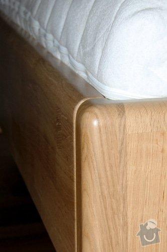 Manželská postel z masivu - ze smrku: 2