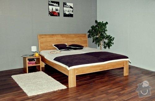 Manželská postel z masivu - ze smrku: 3