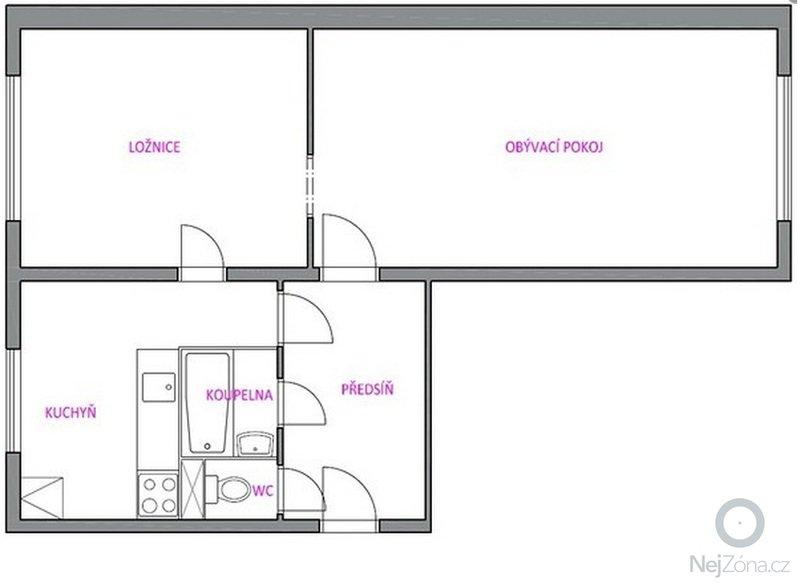 Stavební úpravy v bytě: dispozice