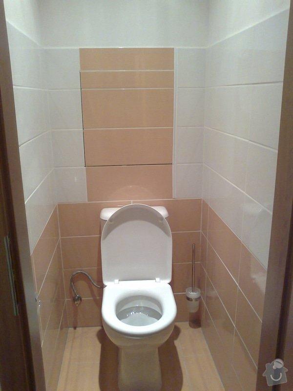 Zakrytí prostoru stoupaček za WC sadrokartonovou deskou + obklad, revize odpadu - sprchový kout: 1