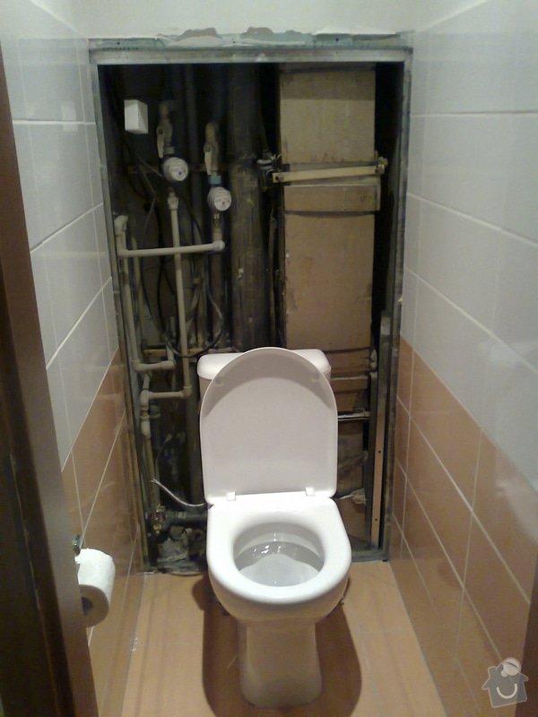 Zakrytí prostoru stoupaček za WC sadrokartonovou deskou + obklad, revize odpadu - sprchový kout: 2