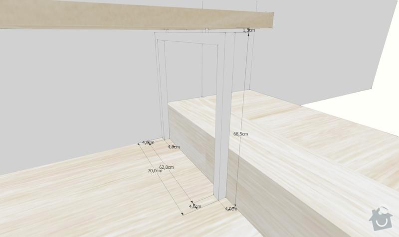 Bílá kovová noha z jeklů pod stůl: Smrzovi_14_11_11_DP_noha