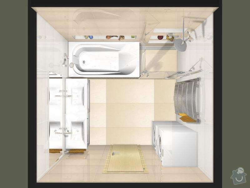 Položení dlažby a obkladů koupelna + 2xWC: Koupelna_Magnific_var.2-01_1