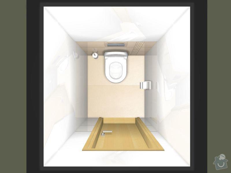Položení dlažby a obkladů koupelna + 2xWC: WC_patro_Magnific-01