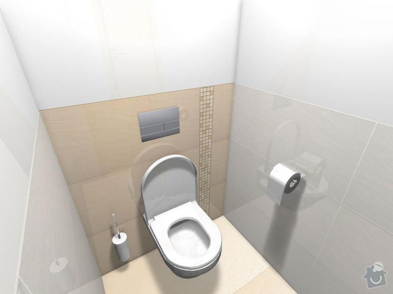 Položení dlažby a obkladů koupelna + 2xWC: WC_patro_Magnific-01_1