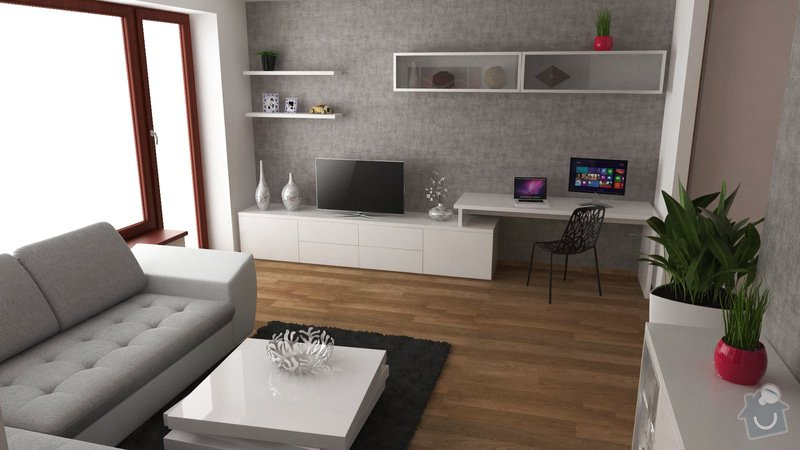 Návrh interiéru obývacího pokoje: OB3_