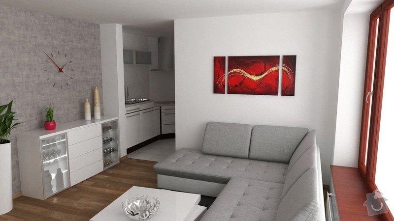 Návrh interiéru obývacího pokoje: OB4_