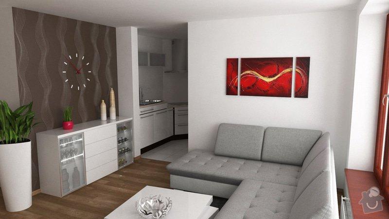Návrh interiéru obývacího pokoje: OB8_