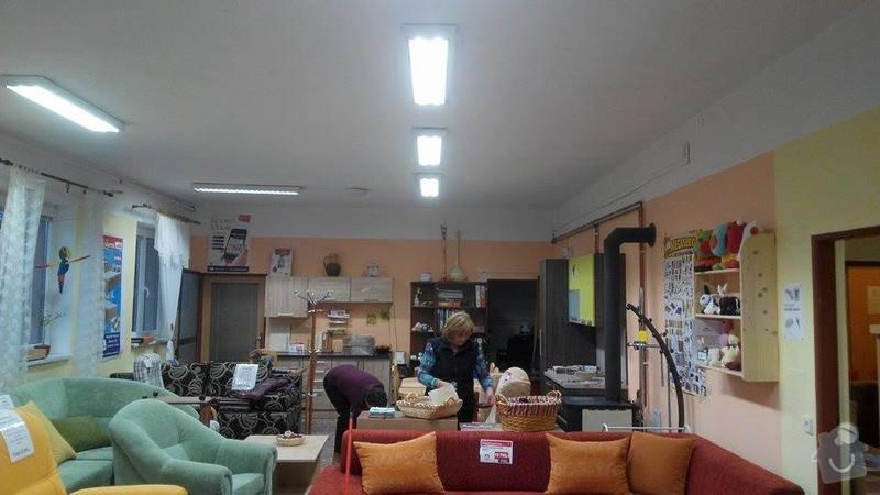 Rekonstrukce osvětlení prodejny s nábytkem: 10807115_10202345588395142_1560606673_n
