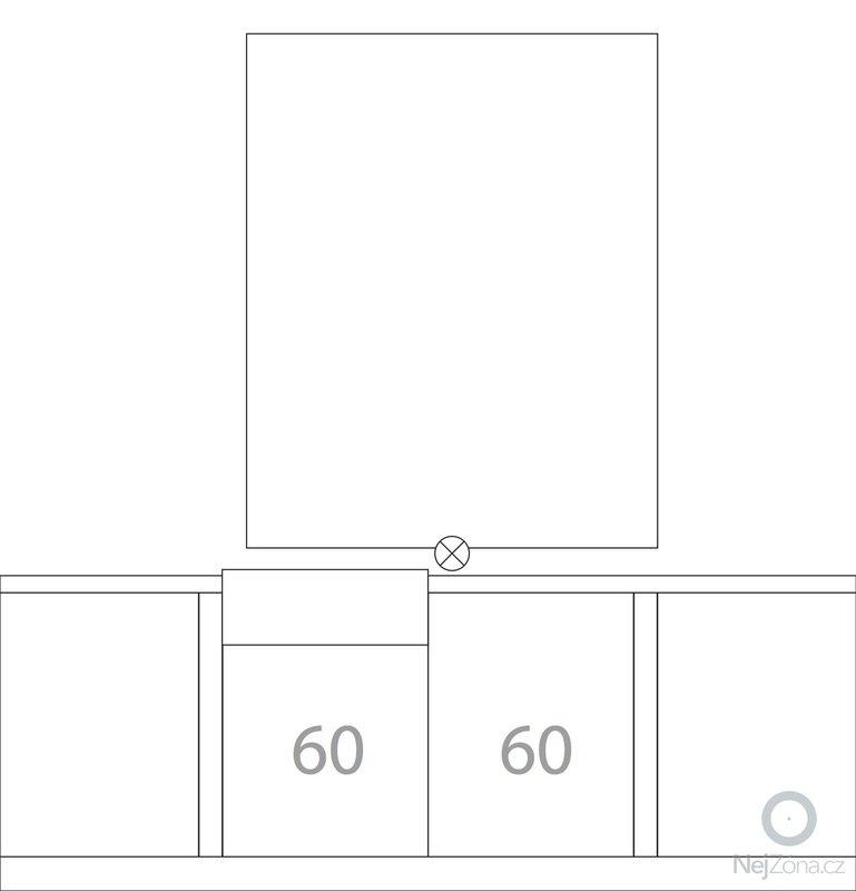 Kuchyňská linka (kazetová dvířka + matná barva) + deska do koupelny + parapety: kuchyne-bokorys-celni