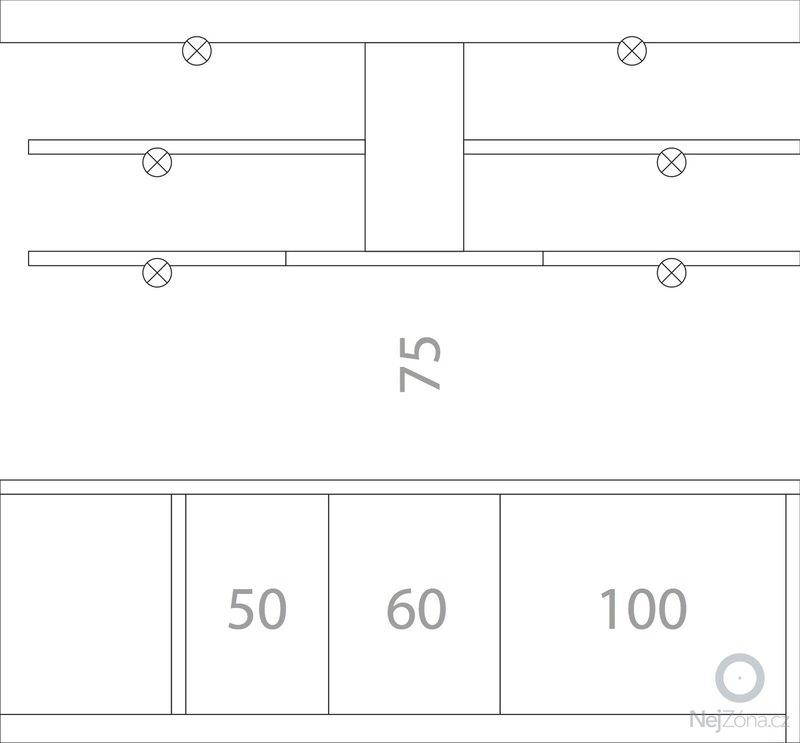 Kuchyňská linka (kazetová dvířka + matná barva) + deska do koupelny + parapety: kuchyne-bokorys-pravy