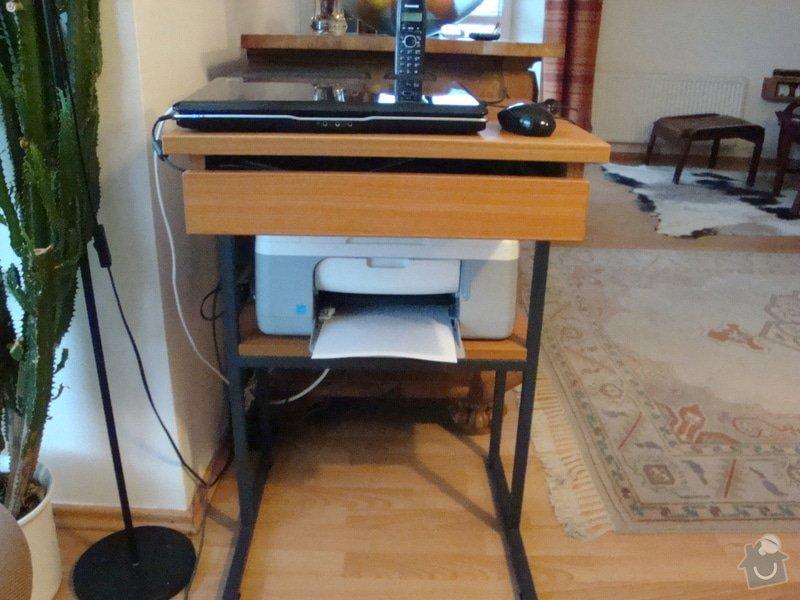 Úpravu stolku pod počitač a tiskárnu: DSC01542