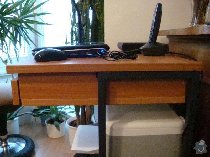 Úpravu stolku pod počitač a tiskárnu: DSC01544